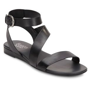 Franco Sarto Black Leather Sandals